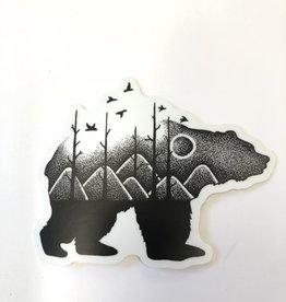 Stickers NW BEAR MOUNTAIN SCENE