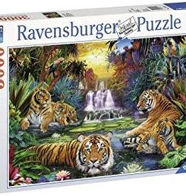 Ravensburger Tiger in paradies.Lagune 3000p