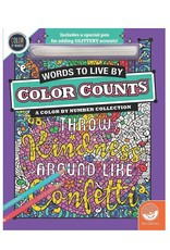 MindWare Glitter Color Counts: Words To Live By