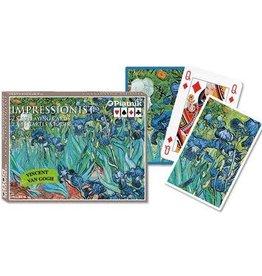 Piatnik Double Deck Playing Cards - Van Gogh Irises, Large Index