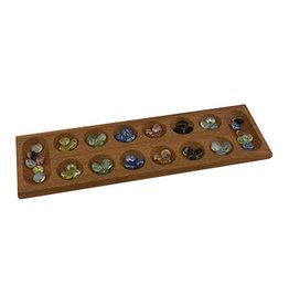 Noese Mancala wood, 48 pcs marbles