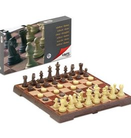 Cayro Magnetic Chess & Draught Set Large