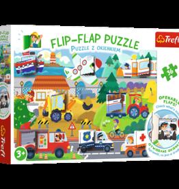 Trefl FLIP FLAP-TRANSPORTS 36pc