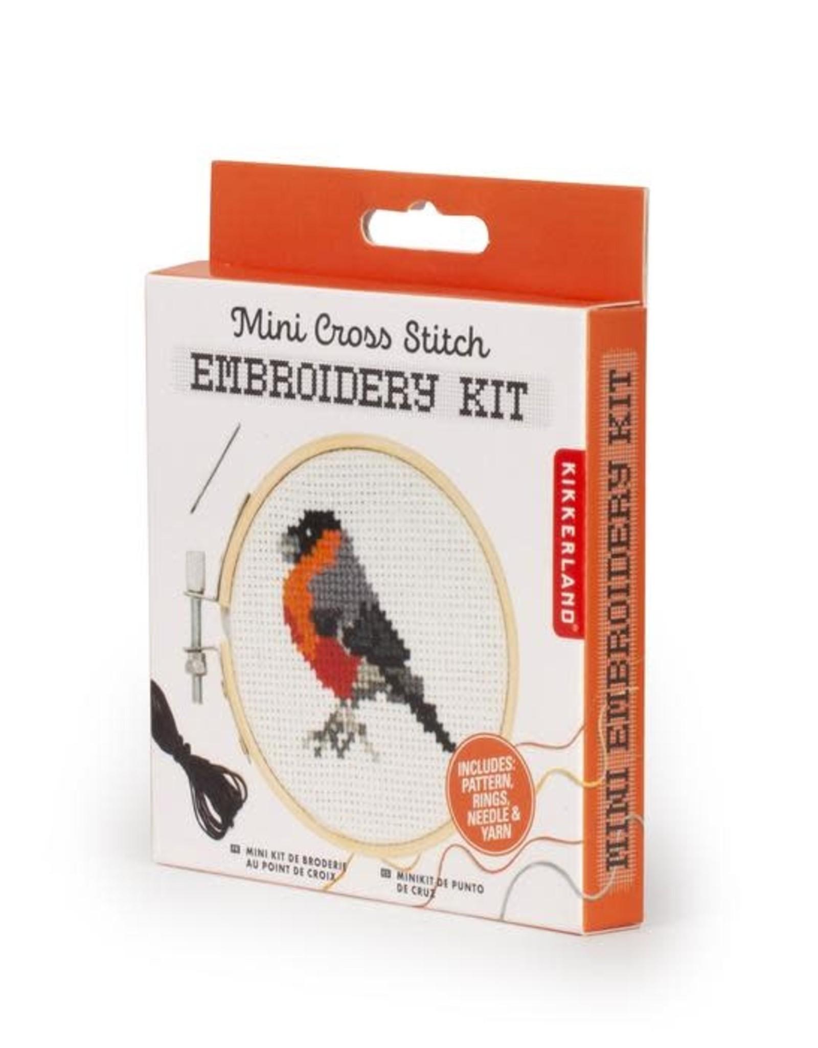 Kikkerland MINI CROSSSTITCH EMBROIDERY KIT-BIRD