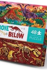 Crocodile Creek 48-PC ABOVE & BELOW/DINOSAUR WORLD