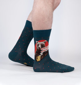 Sock It To Me MEN'S CREW: BEARLY AWAKE