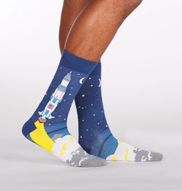 Sock It To Me MEN'S CREW: 3,2,1 LIFT OFF