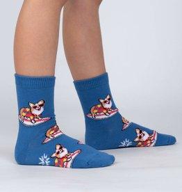 Sock It To Me JUNIOR CREW: CORGI-BUNGA!