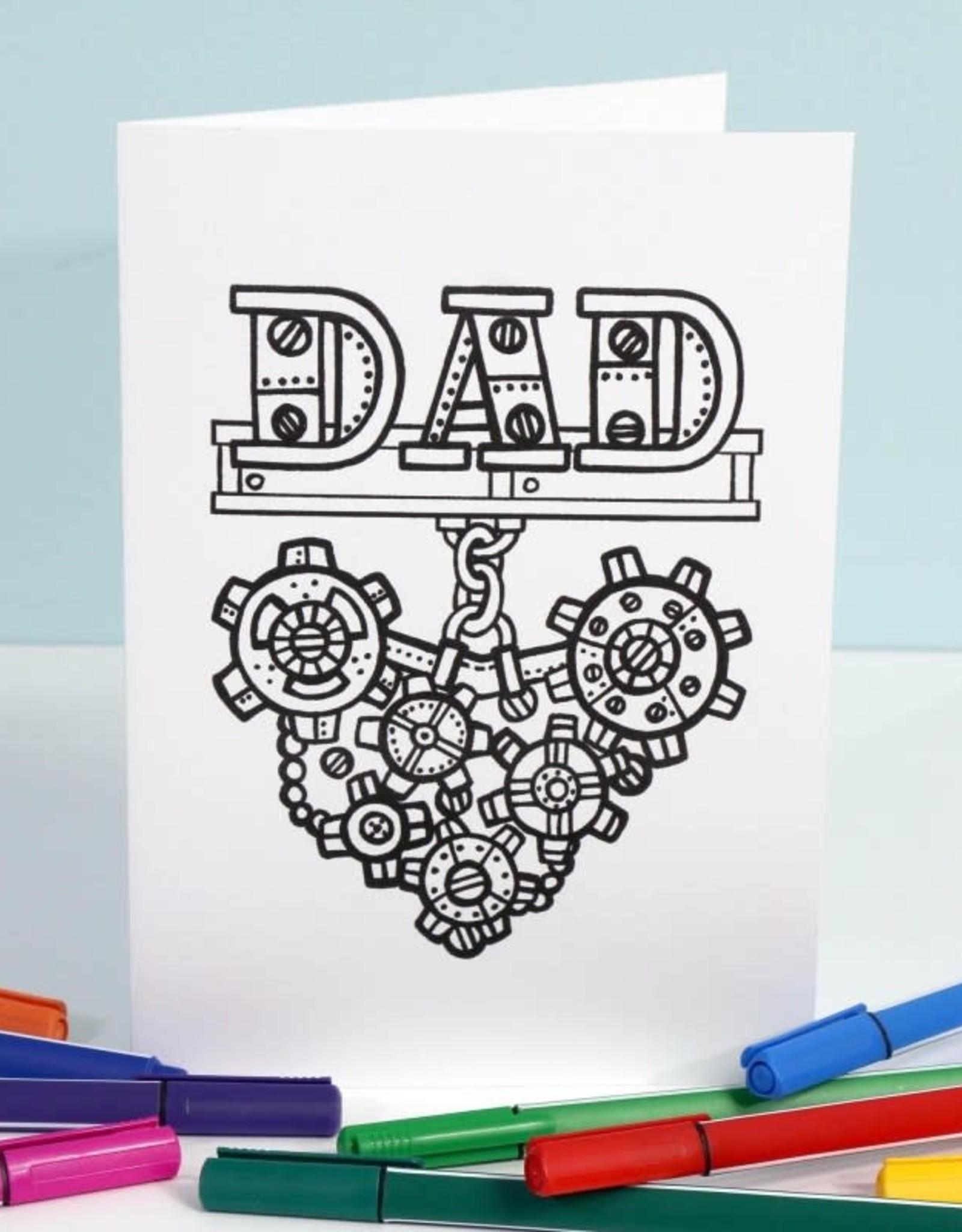 Crystal Salamon DAD Colouring Card
