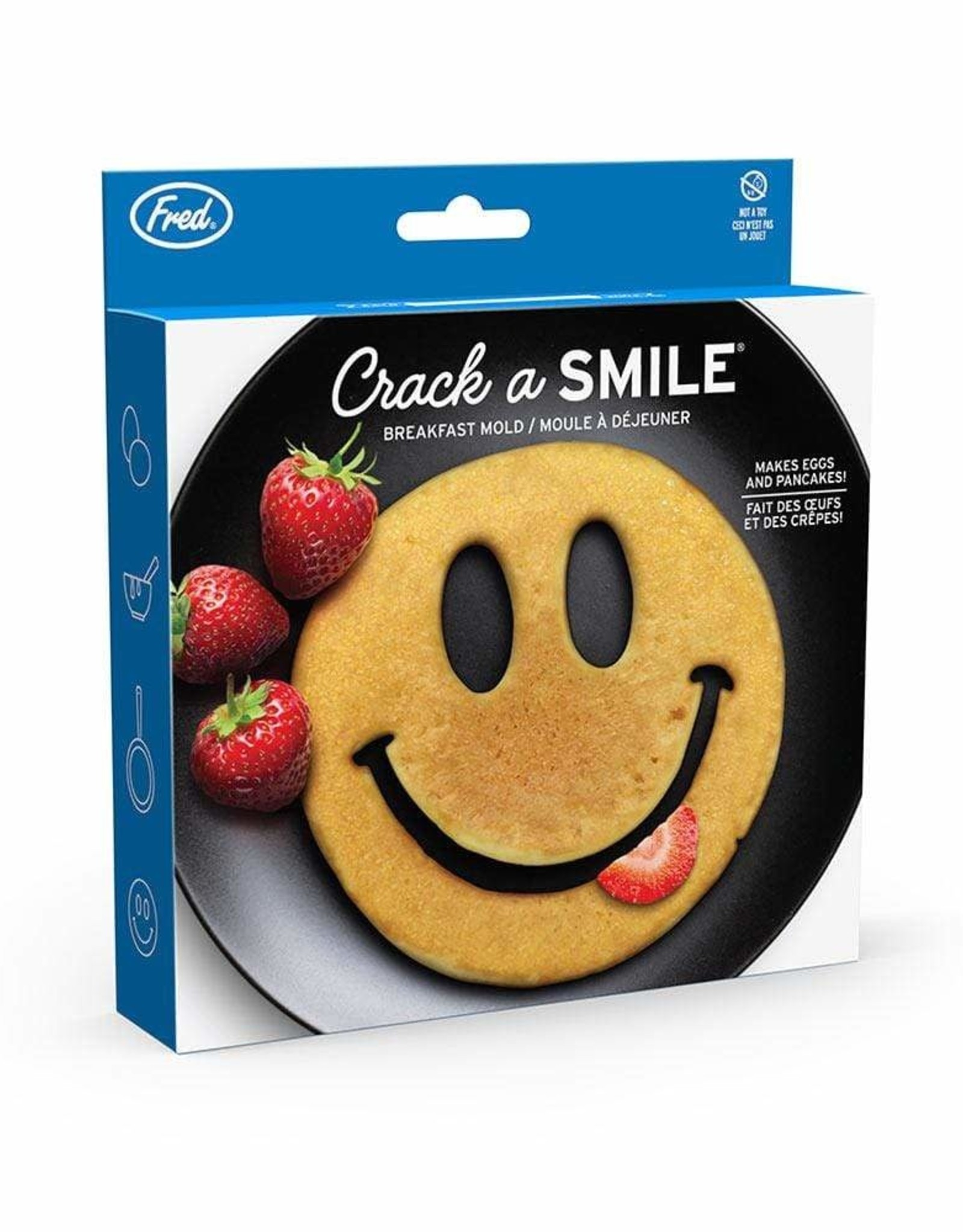 Fred & Friends CRACK A SMILE - SMILEY BFAST MOLD