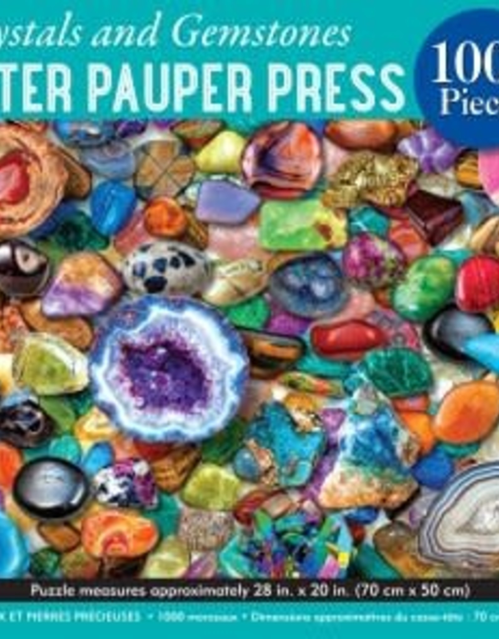 Peter Pauper Press CRYSTALS AND GEMSTONES 1000 PIECE JIGSAW PUZZLE