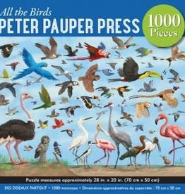 Peter Pauper Press ALL THE BIRDS 1000 PIECE JIGSAW PUZZLE