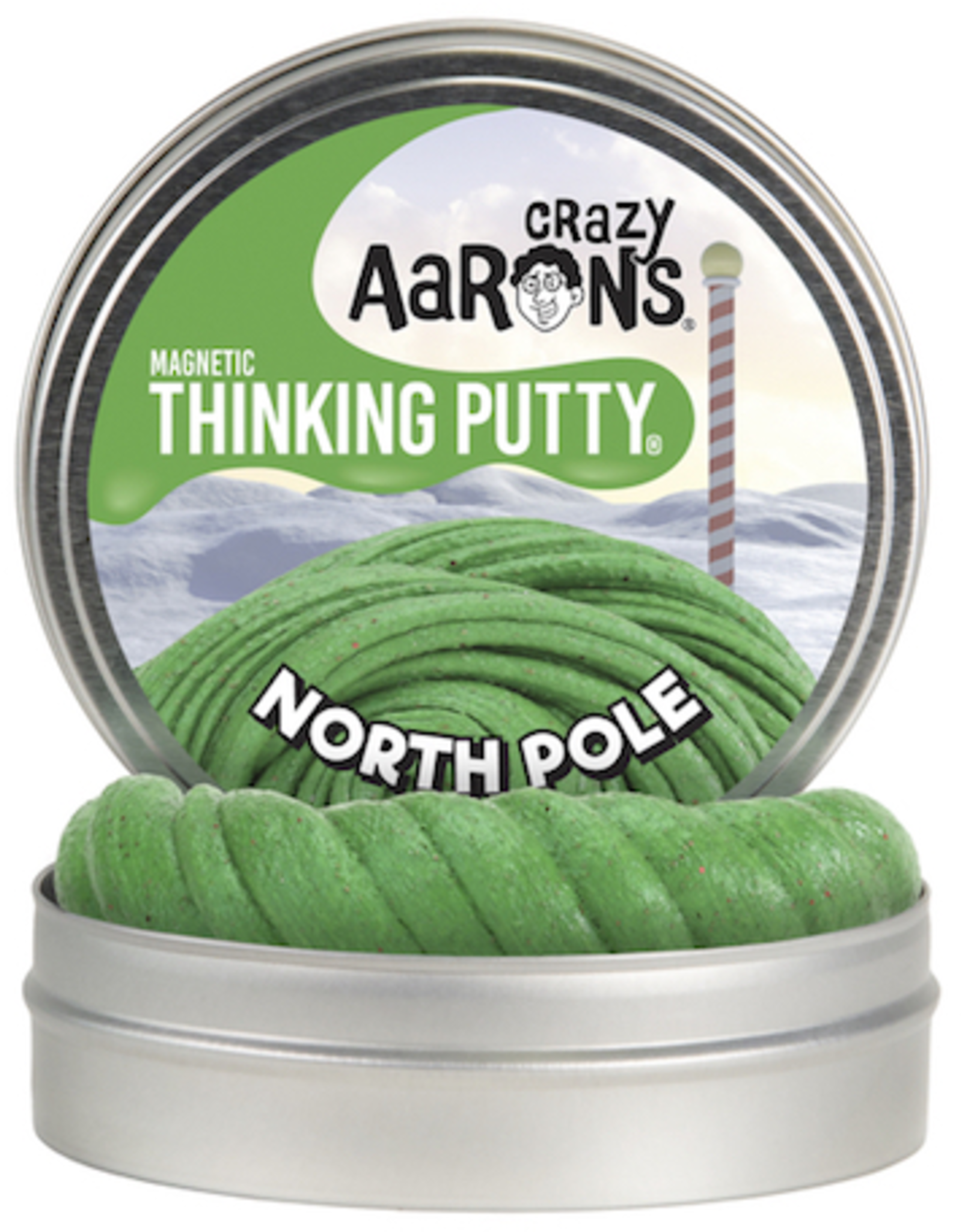 "Crazy Aaron's Thinking Putty 4"" North Pole Super Magnetic"
