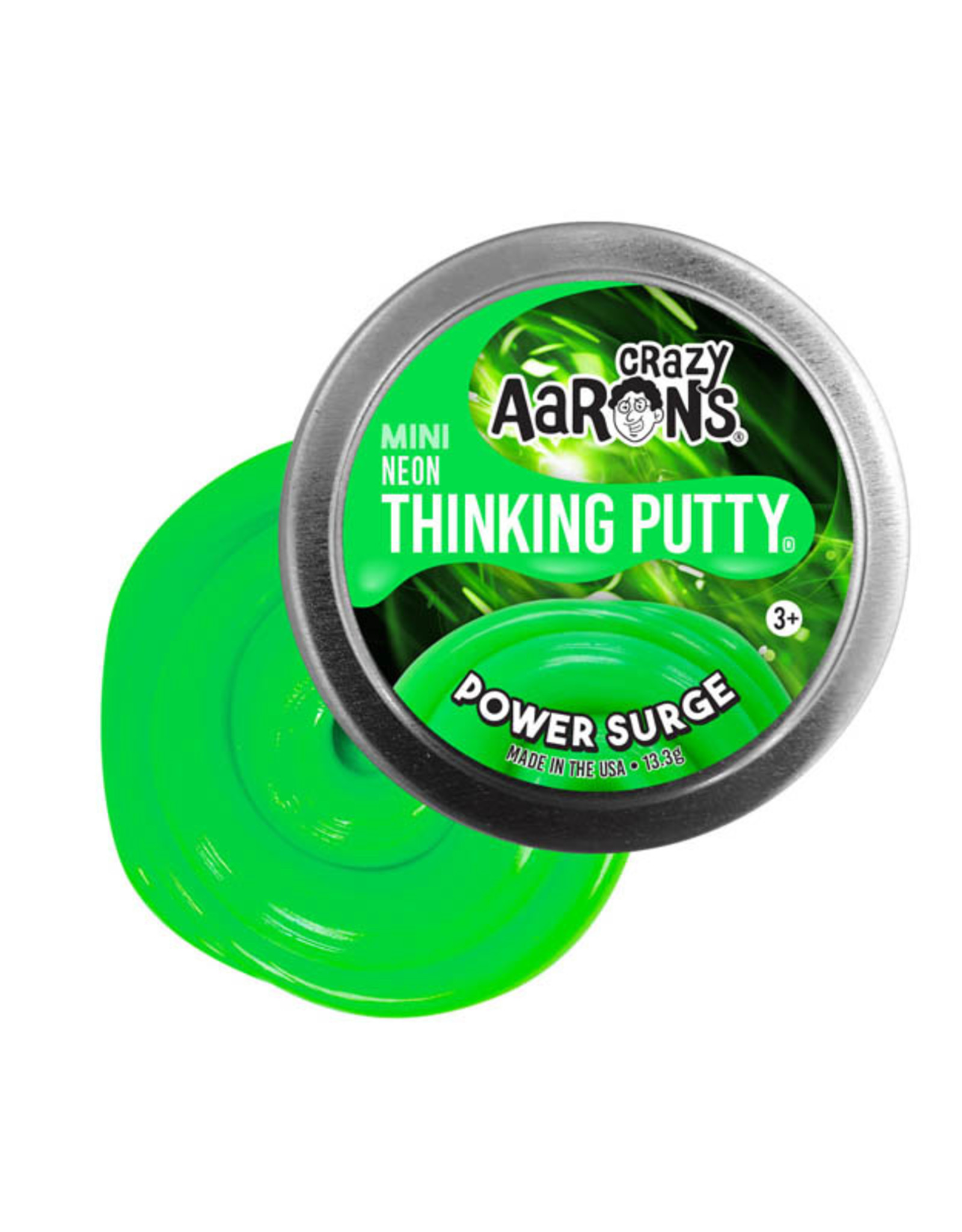 Crazy Aaron's Thinking Putty Small Tin Power Surge - Colorbrights