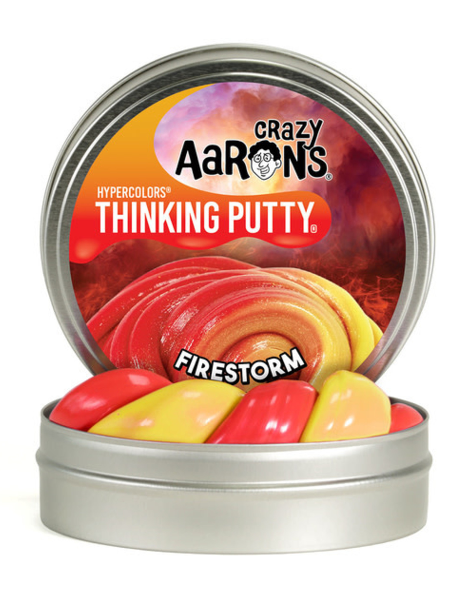 """Crazy Aaron's Thinking Putty 4"""" Fire Storm - Heat Sensitive Hypercolor"""
