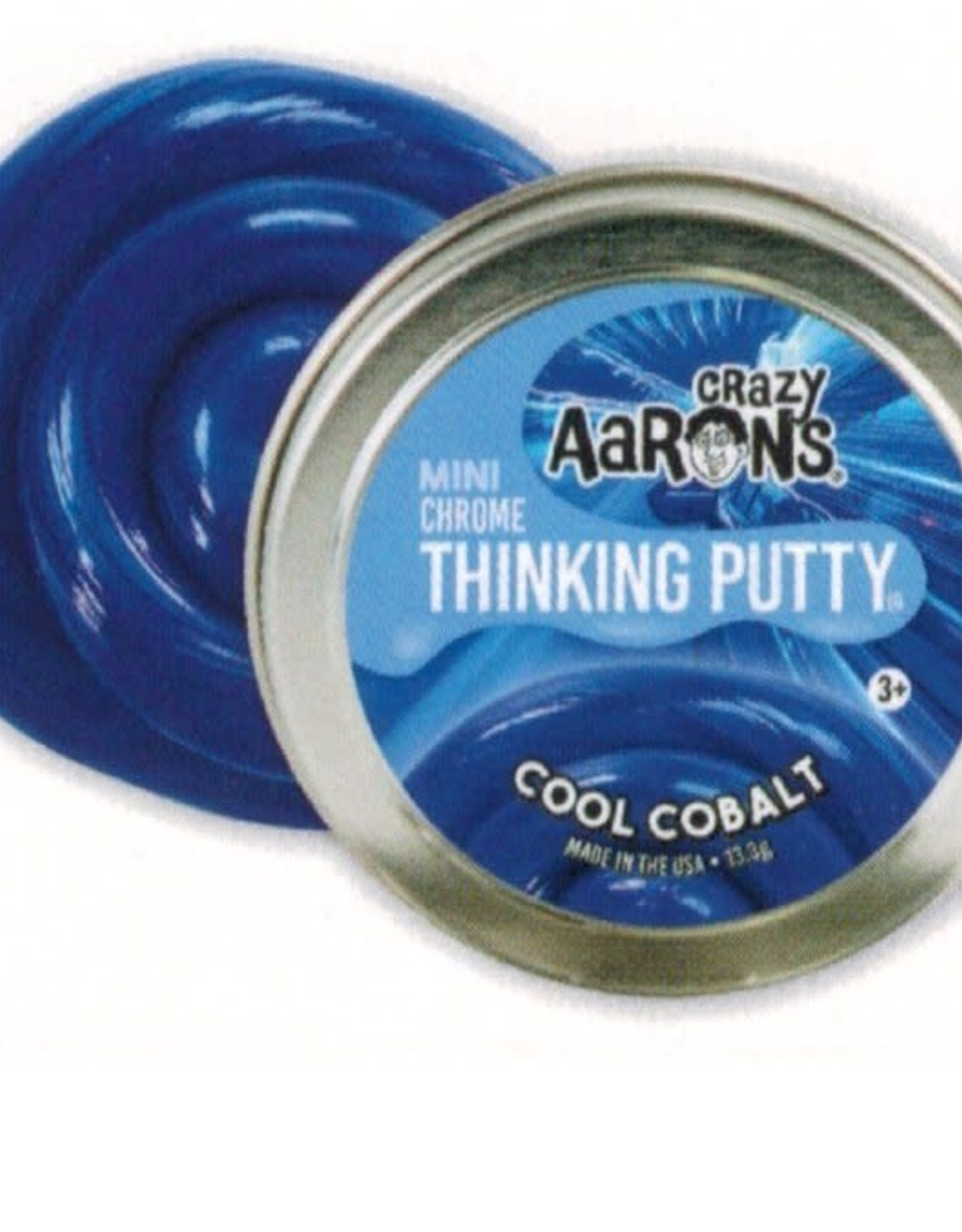 Crazy Aaron's Thinking Putty Small Tin-Cool Cobalt-Effects