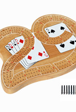 Wood Expressions CRIBBAGE, 29-SHAPE, LARGE, 3-TRACK