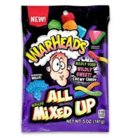 Warheads Warheads All Mixed Up Peg Bag 5oz