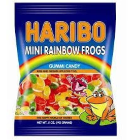 Haribo Haribo Peg Bag Mini Rainbow Frogs 5oz