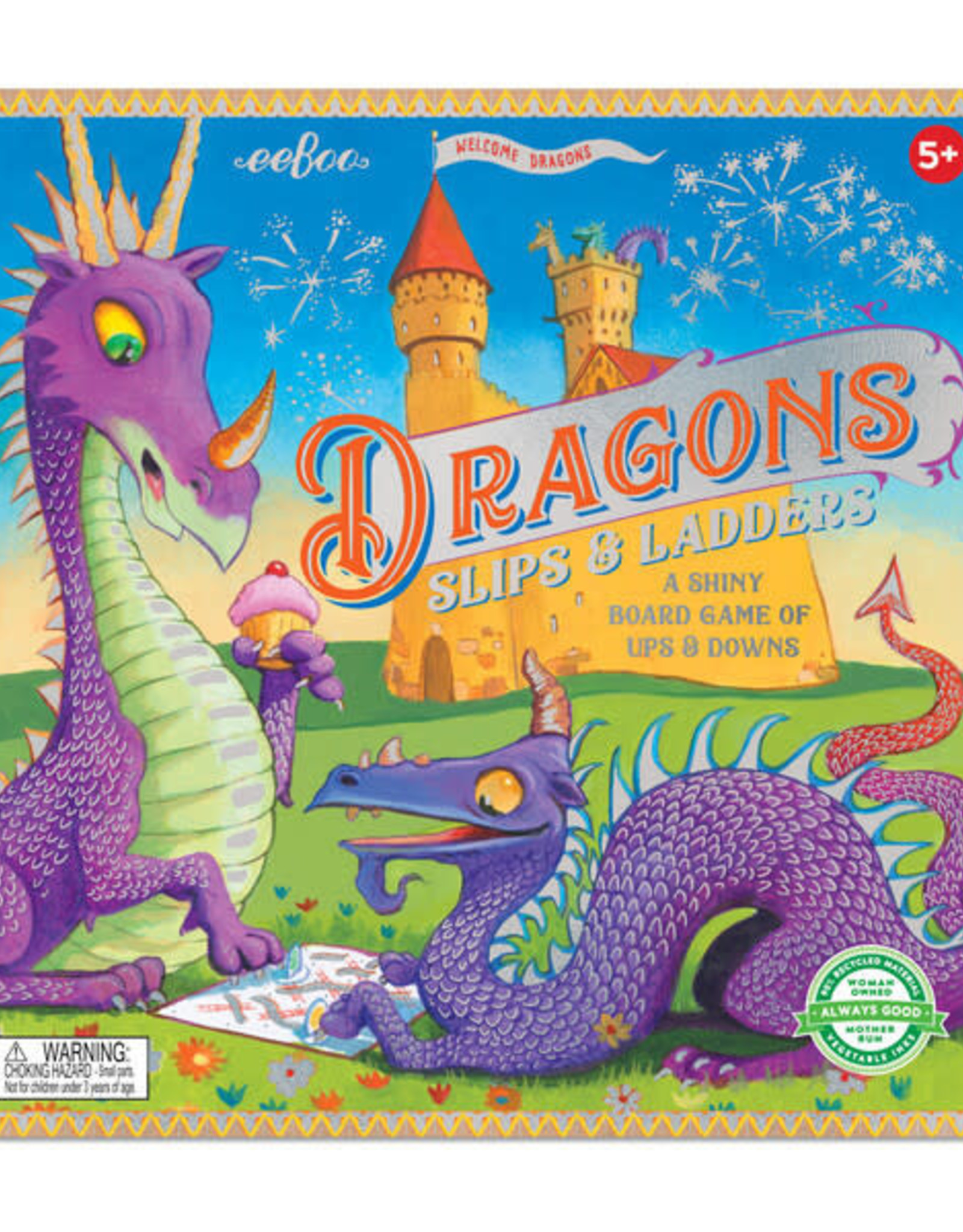 eeBoo DRAGONS SLIPS AND LADDERS BOARD GAME