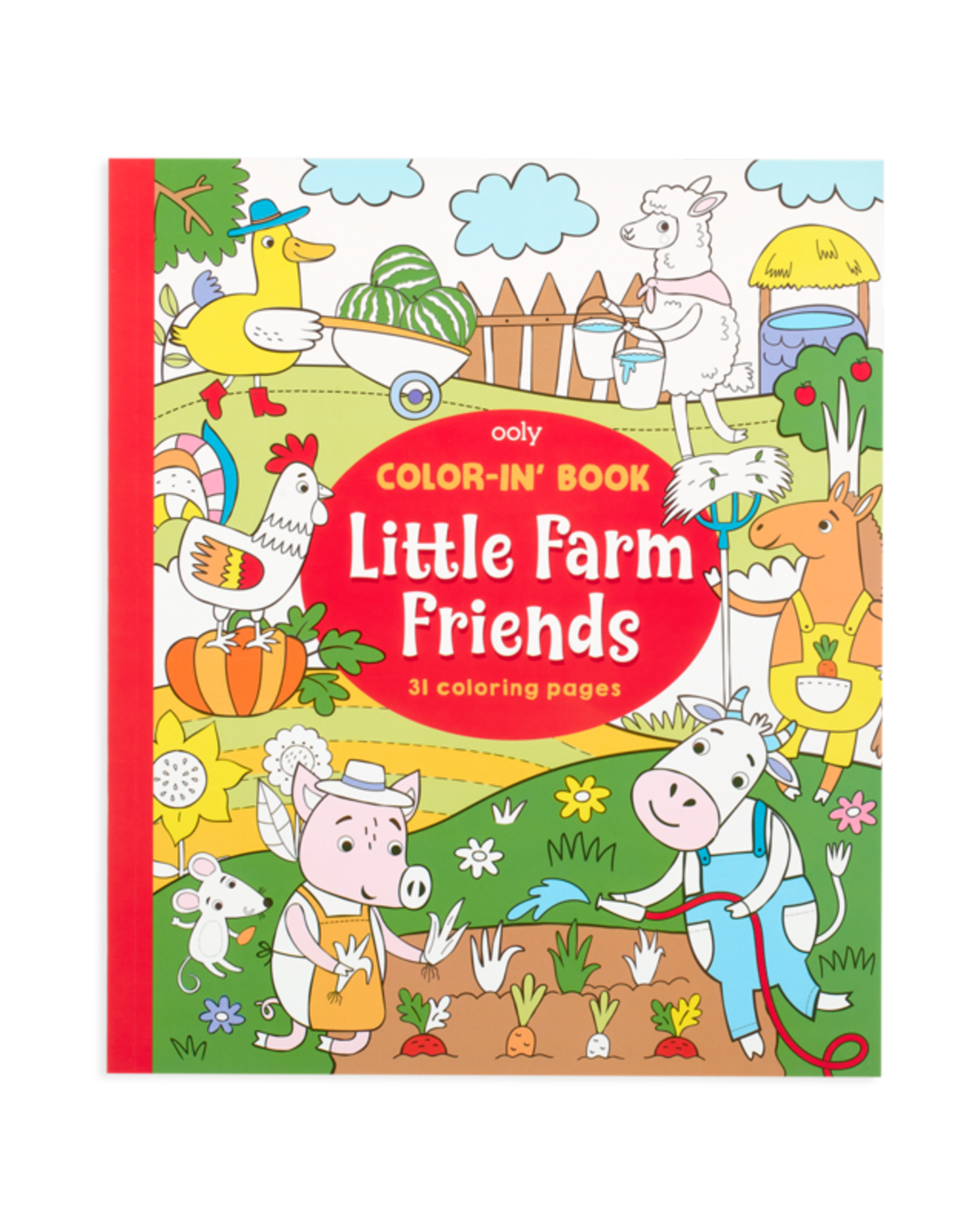 OOLY COLOR-IN BOOK - LITTLE FARM ANIMALS