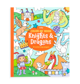 OOLY COLOR-IN BOOK - KNIGHTS & DRAGONS