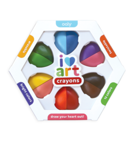 OOLY I HEART ART ERASABLE CRAYONS - SET OF 6