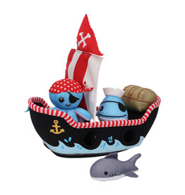 Manhattan Toy Pirate Ship Floating Fill n Spill Bath Toy