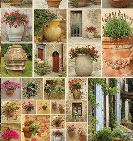 Piatnik Clay Pots with Flowers 1000pc