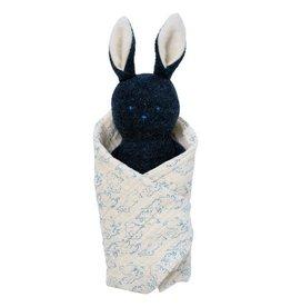 Manhattan Toy Bunny Rattle + Burp Cloth