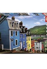 Educa Colourful Houses Near Ocean, St. John's 1000pc