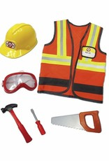 Great Pretenders Construction Worker Set Includes 7 Accessories, Size 5-6