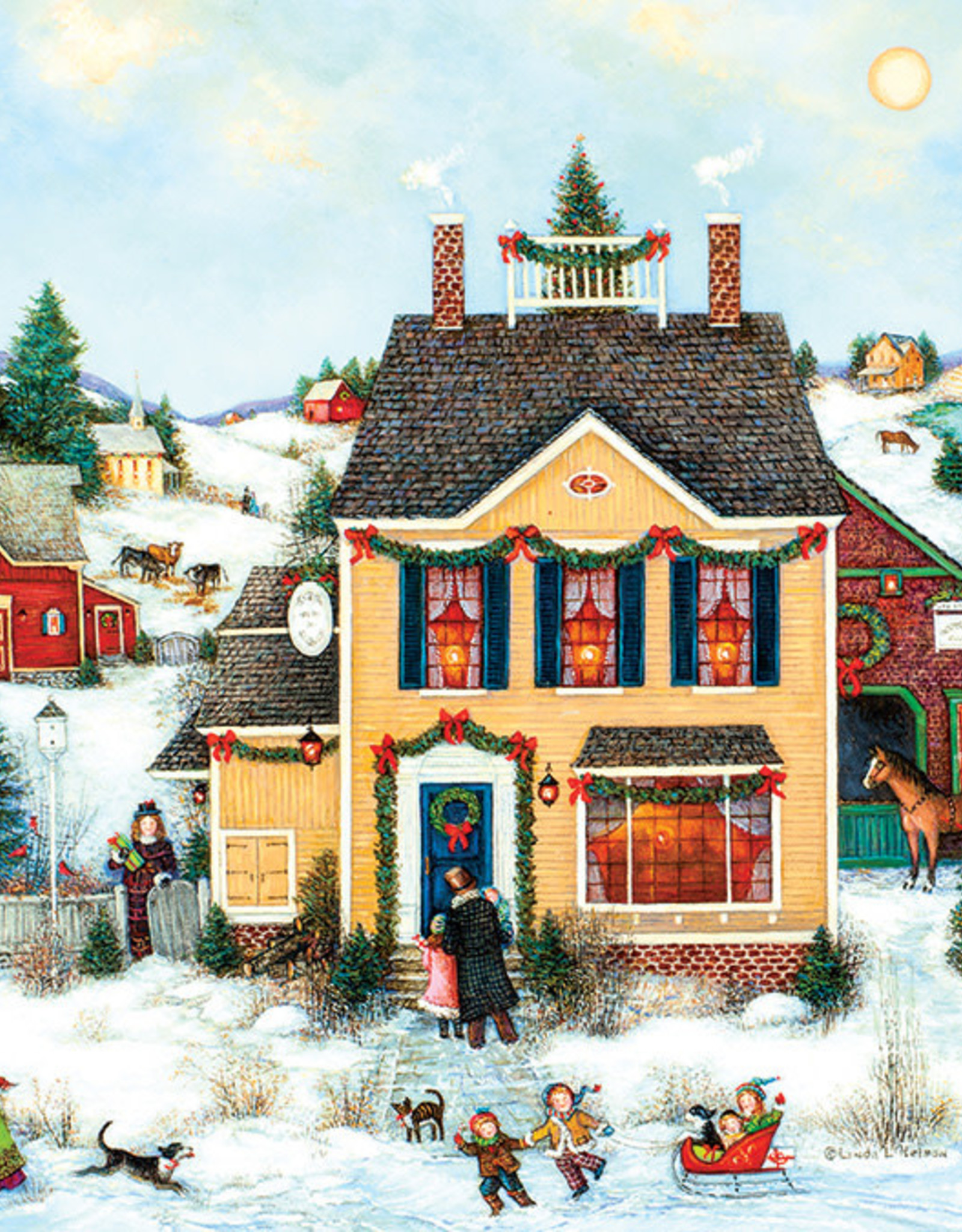 Cobble Hill Christmas Town 275pc
