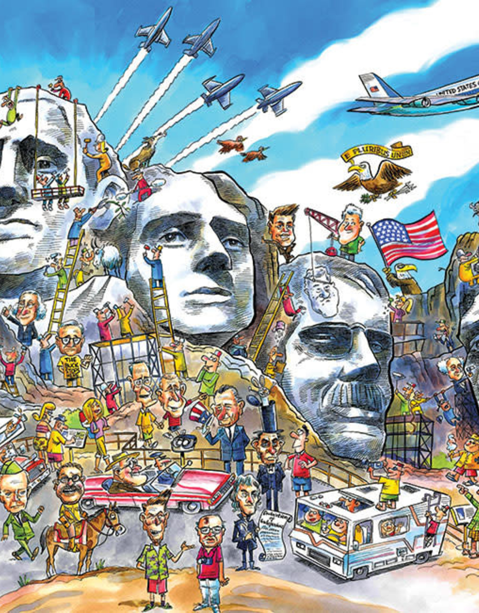 Cobble Hill DoodleTown: Mount Rushmore