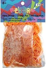 Rainbow Loom Elastics/Clips Jelly/Opaque 6-Orange