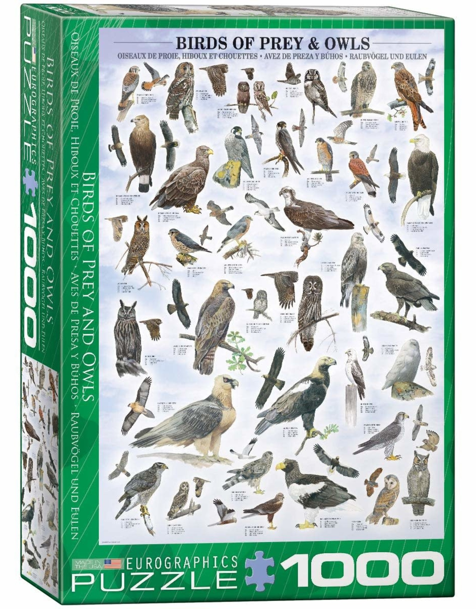 Eurographics Birds of Prey and Owls 1000pc
