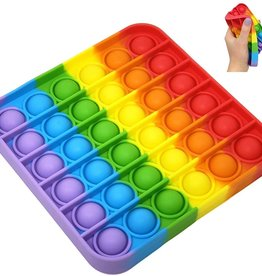 Rainbow Square Push Pop