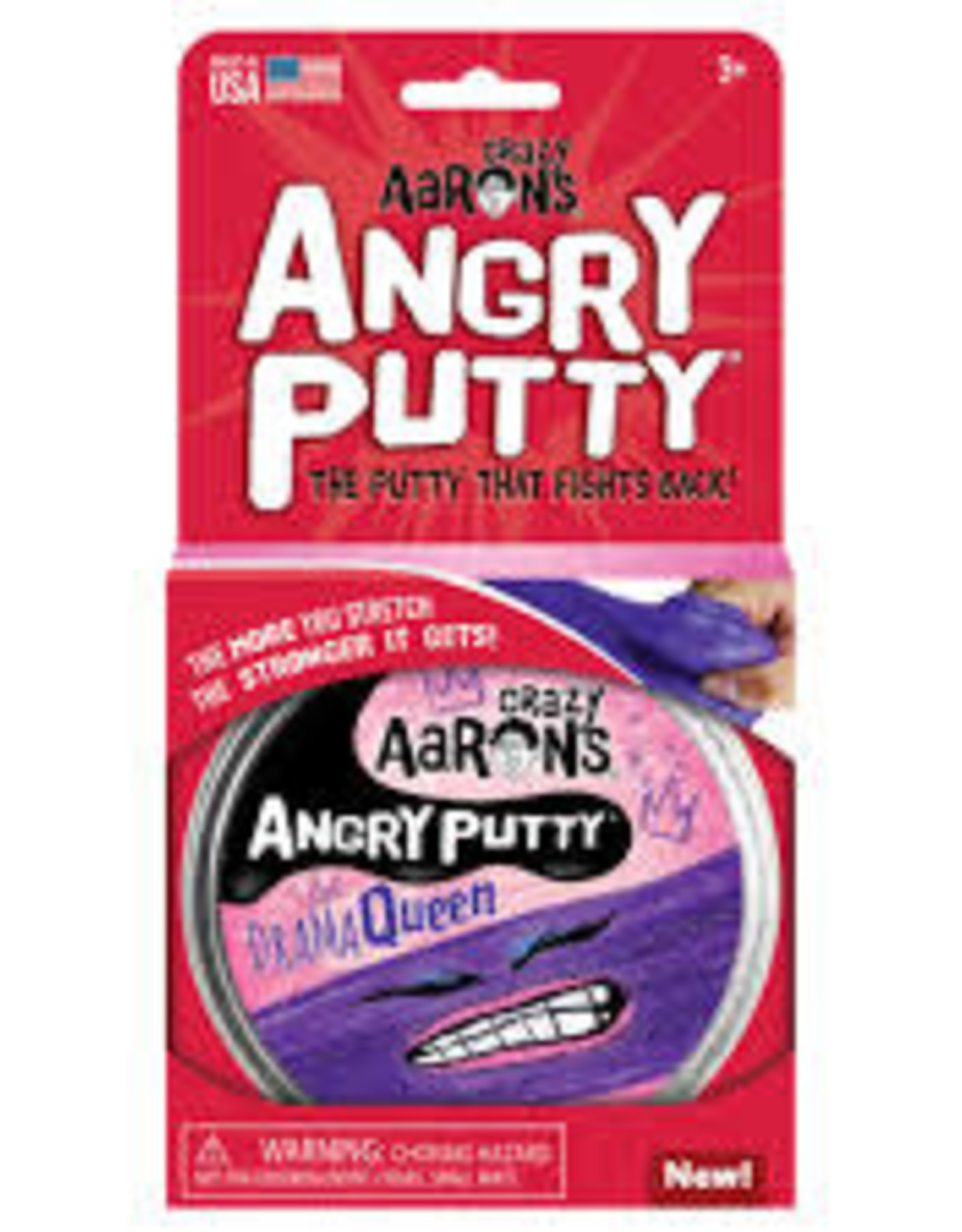 """Crazy Aaron's Thinking Putty Crazy Aaron's Angry Putty 4"""" Tins"""