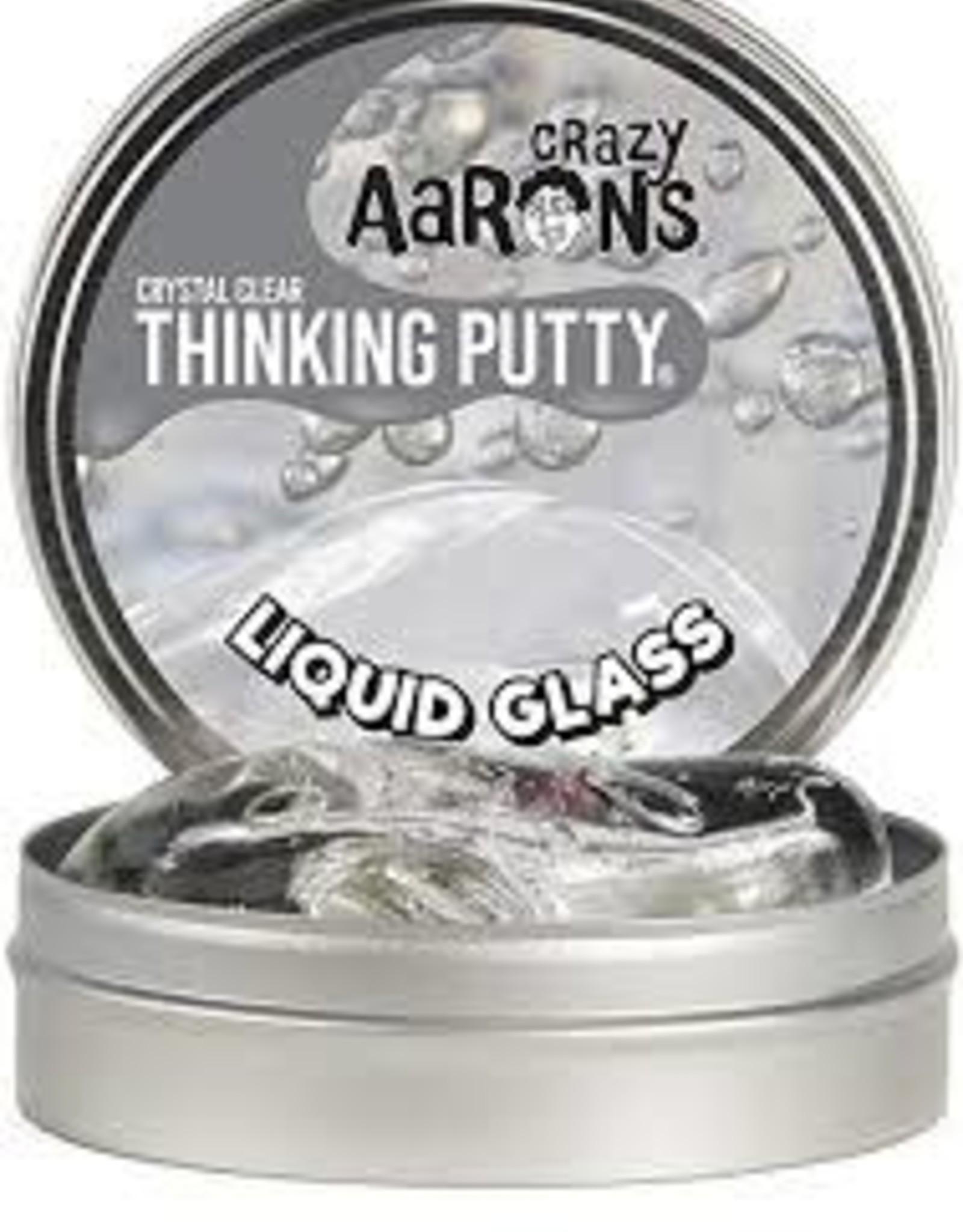 "Crazy Aaron's Thinking Putty Crazy Aaron's Liquid Glass 4"" Tins"