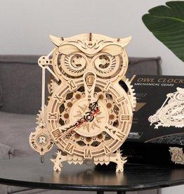 Robotime Wooden Mechanical Gears - Owl clock