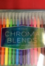 OOLY LTP CHROMA BLENDS WATERCOLOR BRUSH MARKERS - SET OF 18