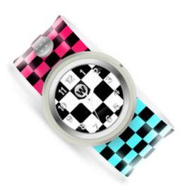 Watchitude Slap Watch - Checkered Flag