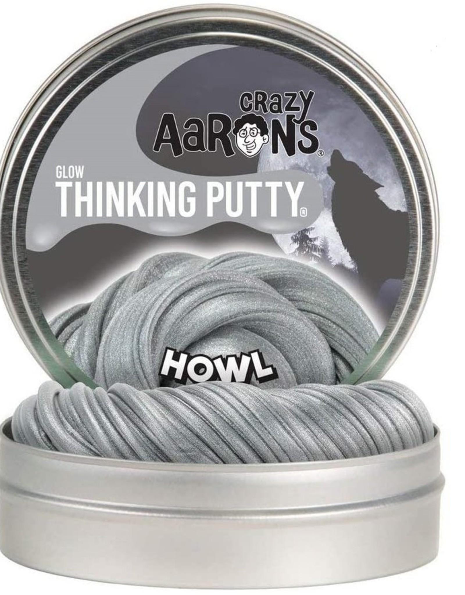 "Crazy Aaron's Thinking Putty Crazy Aaron's Glow-in-the-Dark Putty 4"" Tins"