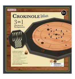 Kroeger CROKINOLE 3 IN 1 DLX (4) BL