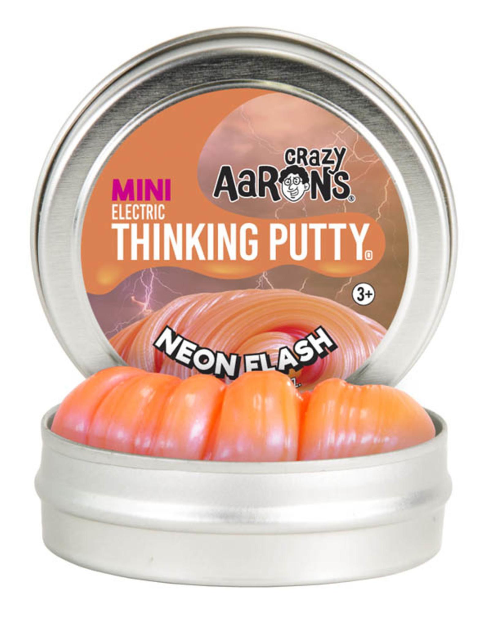 Crazy Aaron's Thinking Putty Crazy Aaron's Mini Tin -  Neon Flash (Electric)