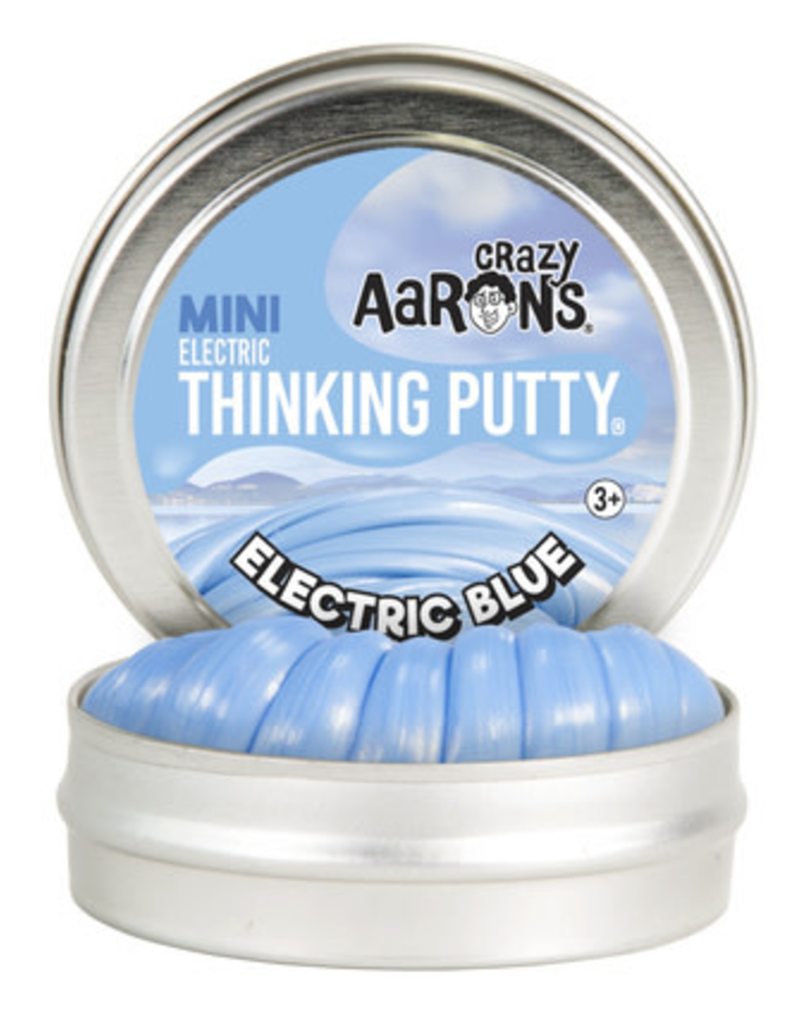 Crazy Aaron's Thinking Putty Crazy Aaron's Mini Tin -  Electric Blue (Electric)
