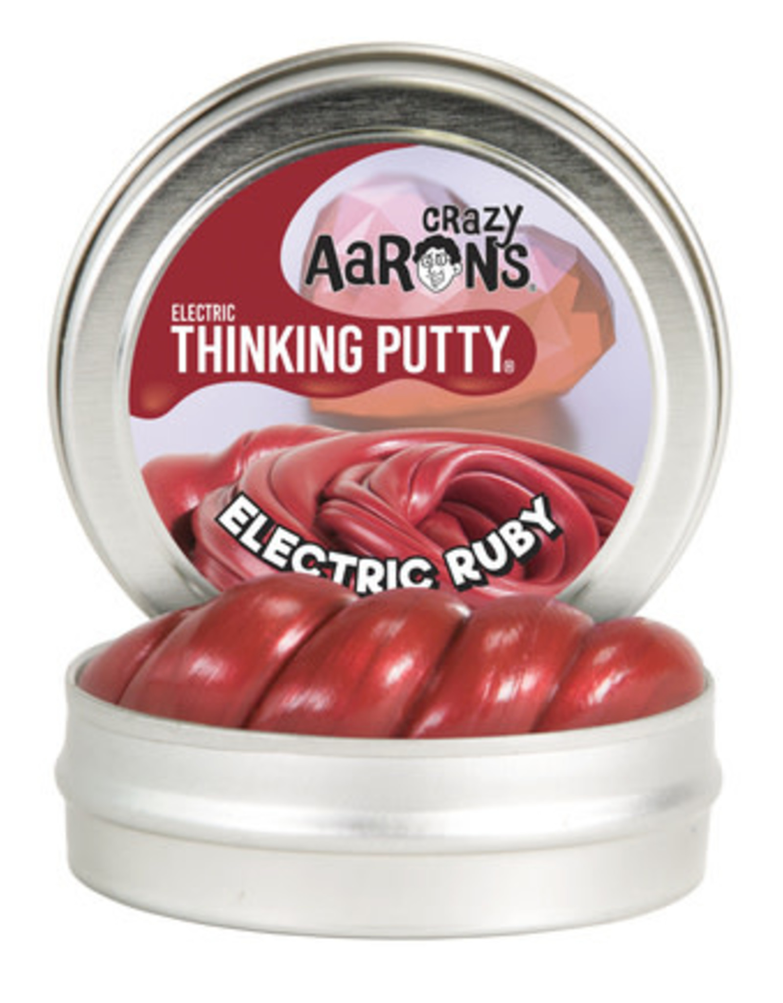 Crazy Aaron's Thinking Putty Crazy Aaron's Mini Tin -  Electric Ruby (Electric)
