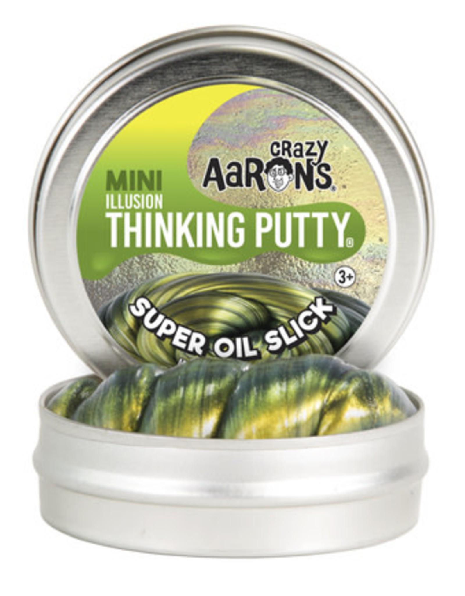 Crazy Aaron's Thinking Putty Crazy Aaron's Mini Tin -  Super Oil Slick (Illusion)