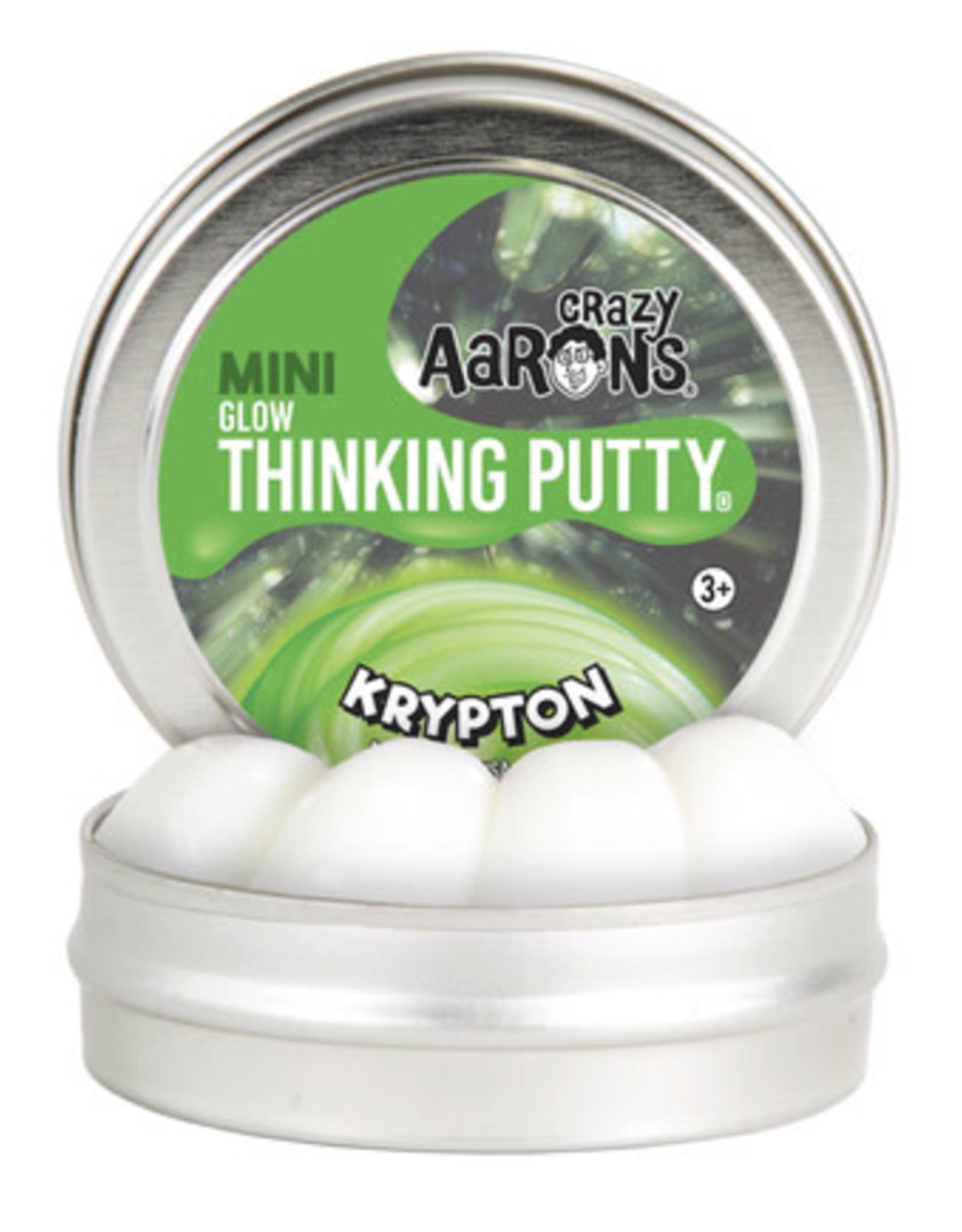 Crazy Aaron's Thinking Putty Crazy Aaron's Mini Tin -  Krypton (Glow)