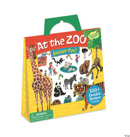 Peaceable Kingdom At The Zoo Resuable Sticker Tote